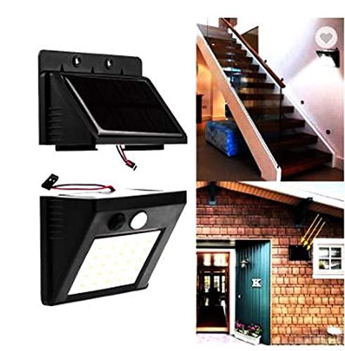 Luz solar exterior con sensor de movimiento placa desmontable foco led solar potente de jardín lámpara solar de seguridad impermeable iluminación solar