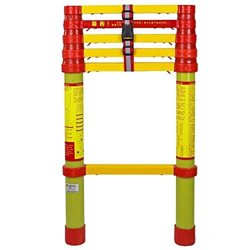 Escalera telescópica de fibra de vidrio de 5 m / 4,5 m / 4 m / 3,5 m / 3 m / 2,5 m / 2 m No conductora,escaleras de extensión telescópicas plegables para mantenimiento de edificios de viviendas,c