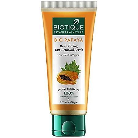 Biotique Bio Papaya Revitalizing Tan Removal Scrub, 100 g