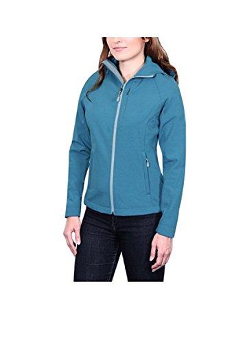 Kirkland Signature Ladies Softshell Jacket, Teal Heather, Large