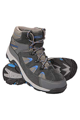 Mountain Warehouse Rapid Mens Waterproof Walking Boots - Waterproof Rain Boots, Sturdy Grip, Eva Cushioned Shoes, Mesh Lined -Footwear for Hiking, Camping in Wet Weather Grey 7 UK