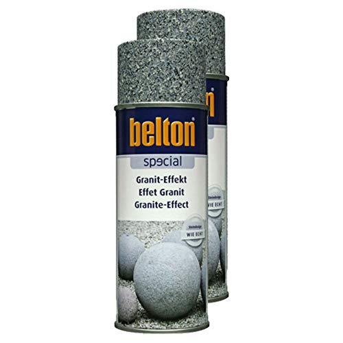 Kwasny 2X Belton Special Lackspray Lack Spray Spraylack Granit-Effekt Obsidianschwarz 400 Ml