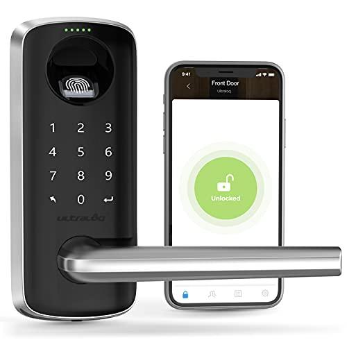 ULTRALOQ Lever, Smart Lock, Keyless Entry Door Lock, Door Locks with Keypadsand Voice Guide, Biometric Fingerprint Door Lock,DigitalSmart Door Lockfor Front Door, Bedroom and Office