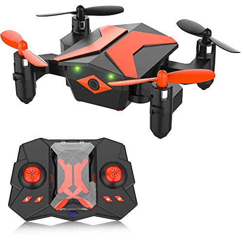 Mini Drone for Kids, RC Helicopter Portable Foldable Drone for Beginners RC Quadcopter w/One Key Take Off, Headless Mode, Altitude Hold, 3D Flip, 2.4Ghz 6-Axis Gyro, Mini Drone Great Gifts for Kids