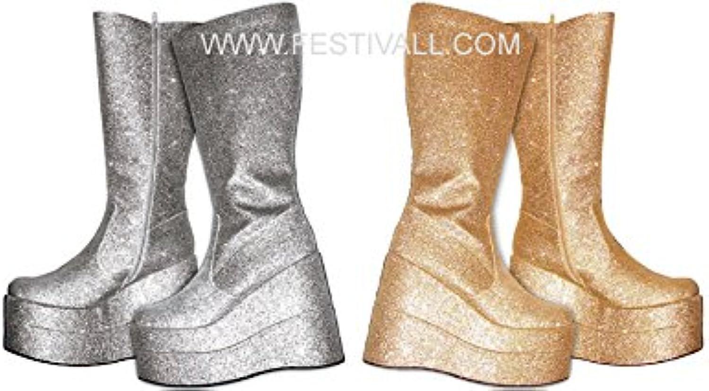 Festival Magia und Giocoleria Stiefel Anni 70' Silber (ES26)