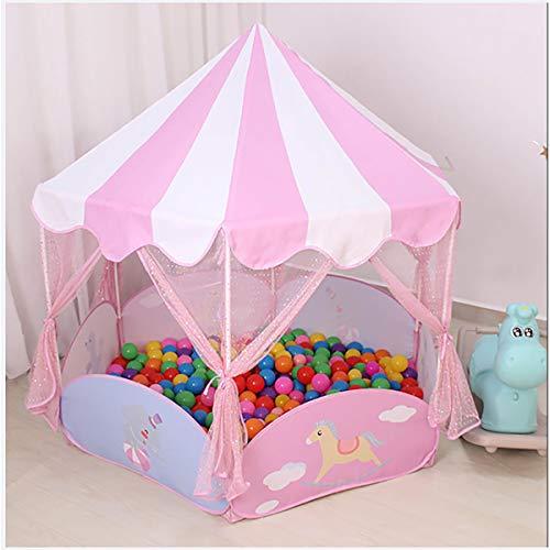 XER - Tienda de juegos - Tienda rosa con Creative Gioco - Indoor/Outdoor Playhouse para niños y niñas, con transporte de la caja para la carrera y el almacenamiento - Rosa