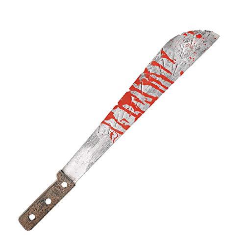 NET TOYS Blutige Machete Jason - 51,5cm - Schauriges Party-Accessoire Schwert-Messer - Wie geschaffen für Mottoparty & Horror-Party