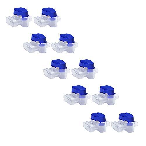 MOWHOUSE Juego de Conectores de Cable para Cortacesped Robot - 10 Uniones Rellenas de Gel para Cable Eléctrico Baja Tension - Reparacion Cables para Cortadores Automaticos - Impermeable, Sin Pelar