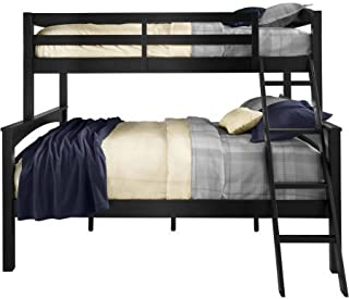 Better Homes and Gardens Leighton Twin-Over-Full Bunk Bed, Black