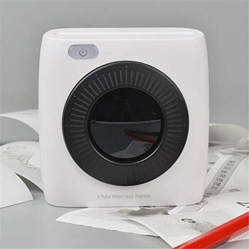 Mini Impresora fotográfica Mini portátil Bluetooth térmica 300dpi Impresora HD 1000 mAh de la batería portátil Etiqueta Photo Printer (Color : Blanco, tamaño : Un tamaño)