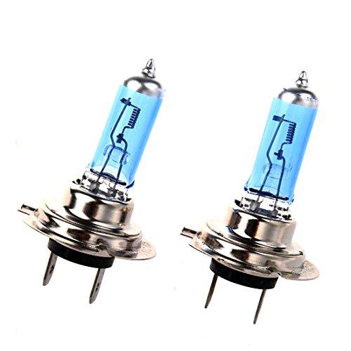 SODIAL(R) 2 Pieces Lampes halogenes H7 pour la voiture Lampe a LED H7 6000K Xenon Phare Lampe H7 100W 24V ultra brillant pour la voiture L'eclairage: blanc