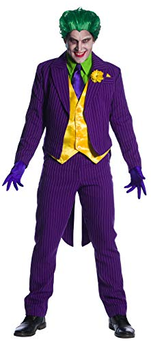 Charades DC Comics Joker Men's Costume, As Shown, Small