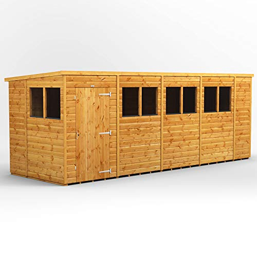 POWER | 18x6 Pent Wooden Garden Shed | Size 18 x 6 Sheds | Super Fast Delivery or Pick your own day
