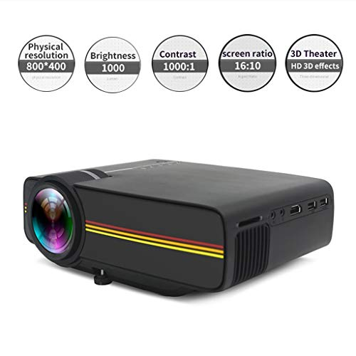 MUJING Full HD Heimkino- Und Gaming-Projektoren, Tragbarer Mini Professional-Projektor Für Privatanwender/Unternehmen (130