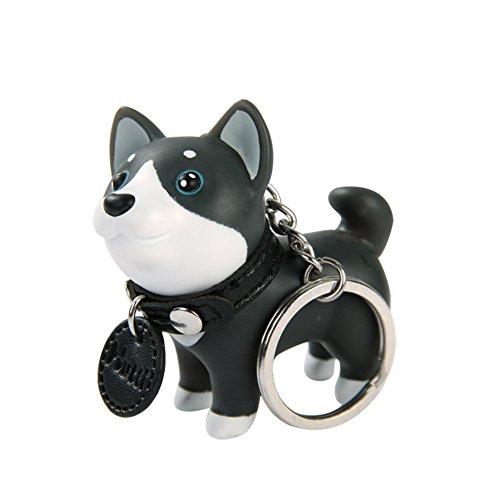 Oyfel Metal llavero Trousseau port llave perro PVC anti-perdu estudiantes de cumpleaños Festival Husky coche recuerdo regalo colgante de accesorios teléfono automáticos 1 pcs