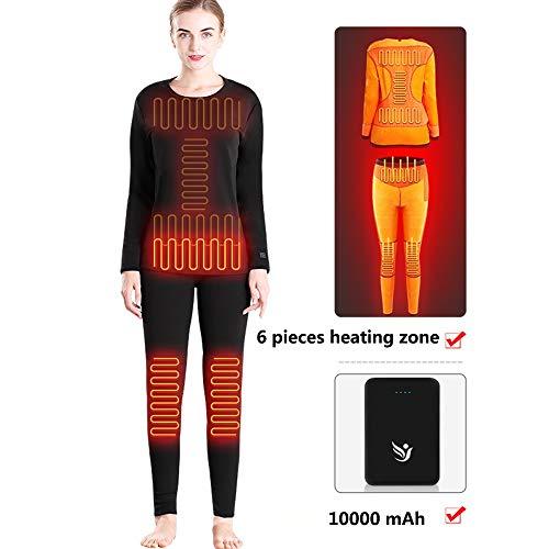 Jiayuan Elektrische massage-apparaat, ondergoed, verwarming, thermo-ondergoed, thermo- en T-shirts, 3 instellingen verwarming voor vrouwen, mannen, vissen, jacht R