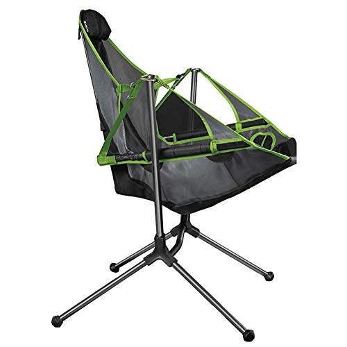 WXHXSRJ Camping Chair, Ultralight Portable Folding Chair, Heavy Duty Outdoor Chair, Quick Setup Compact Chair, for Outdoor Activities,Green