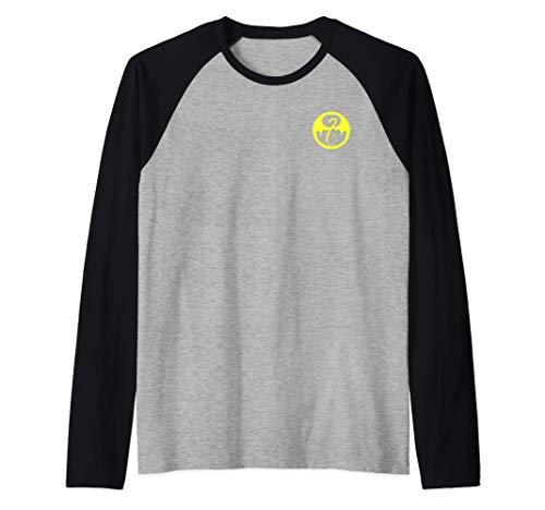 Marvel Iron Fist Pocket Yellow Logo Camiseta Manga Raglan