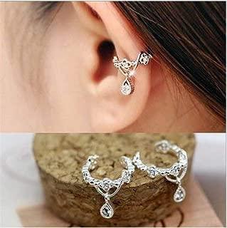 Fashion Ear Cuff Wrap Rhinestone Cartilage Clip On Earring Non Piercing Jewelry