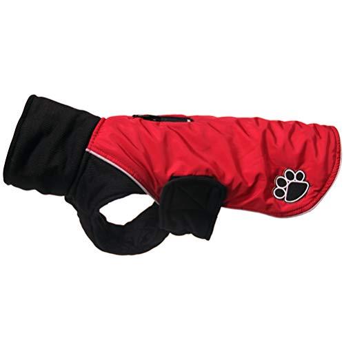 JoyDaog Abrigos de cuello alto para perros pequeños, impermeables, cálidos, para invierno, color rojo