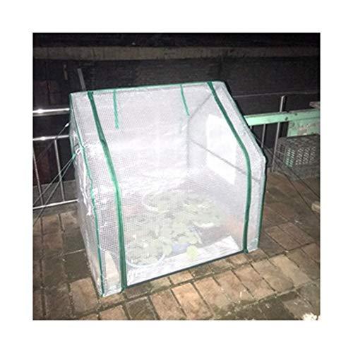 Gzhenh Invernadero,Casa Miniatura Plantas Cobertizo De Aislamiento con Doble Cremallera Respirable Plegable Portátil Invernadero De Tomate (Color : White-2pcs, Size : 90x90x90cm)