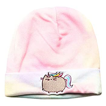 Pusheenicorn Embroidered Beanie Hat -Color Washed