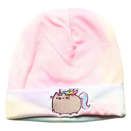 Pusheenicorn Beanie-Mütze, Bestickt, Farbe gewaschen