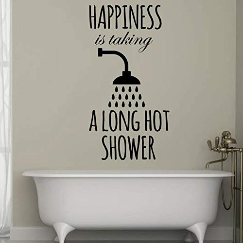 Wandtattoo Aufkleber Tapete Badezimmer Home Decor Glück Nimmt Eine Lange Heiße Dusche Aus Vinyl Fenster Wasserdicht 57X108cm