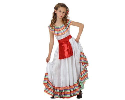 Atosa-69130 Disfraz Mejicana, color blanco, 7 a 9 años (69130)