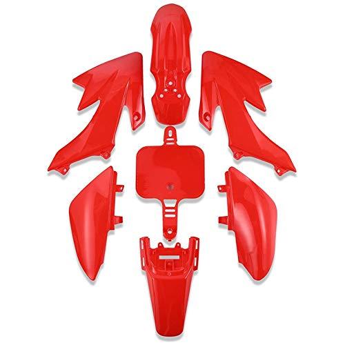 Fauge 7 Piezas de Kit de CarroceríA de Carenado de Guardabarros de PláStico, Kit de Guardabarros de PláStico para XR 50 CRF50 Motos de Tierra Chinas