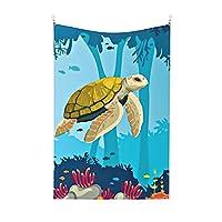 海の水中動物 タペストリー-60*40inch(垂直断面) 、 家の装飾用の壁掛けタペストリー、海の水中動物 寝室のリビングルームの寮の家の装飾