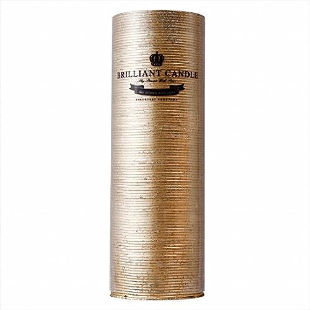 知事些細な希望に満ちたカメヤマキャンドル(kameyama candle) ブリリアントピラー2×6 「 ゴールド 」