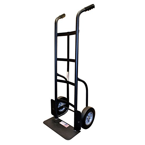 Milwaukee Hand Trucks 60138 Heavy Duty Dual Handle Truck with 10-Inch Solid Puncture Proof Tires