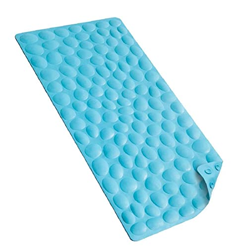 Allwiner Badmat Grippy Douche Pad Soft Rubber Tub Mat met sterke zuignappen voor bad 40x80cm Blauw, woonaccessoires