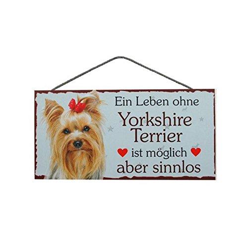 Türschild Yorkshire Terrier (61) aus Holz Schild Hund deutsche Herstellung