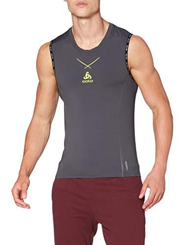 Odlo Tank Rundhalsausschnitt Ceramicool Camiseta sin Mangas para Hombre Graphitgrau-Ovillo de Lana, Large