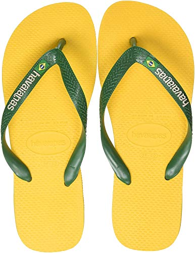 Havaianas Brasil Logo Chanclas Unisex adulto, Amarillo (Banana Yellow), 41/42 EU