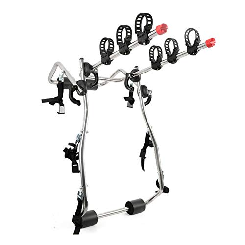 GzxLaY Portabicicletas Universal para Maletero o Enganche de Coche, portabicicletas de Montaje Trasero, Soporte para 1-3 Bicicletas, para Coches, sedán, Hatchback, Camiones, Todoterreno,C