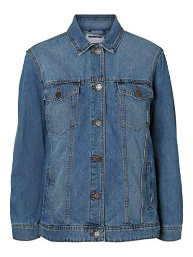 Noisy may Female Jeansjacke Lange MMedium Blue Denim