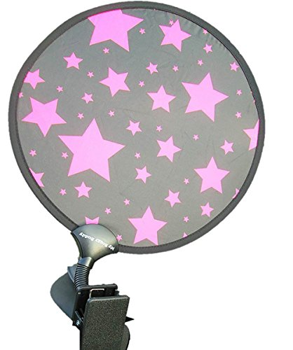 My Buggy Buddy–Parasol, diseño de estrellas, color rosa