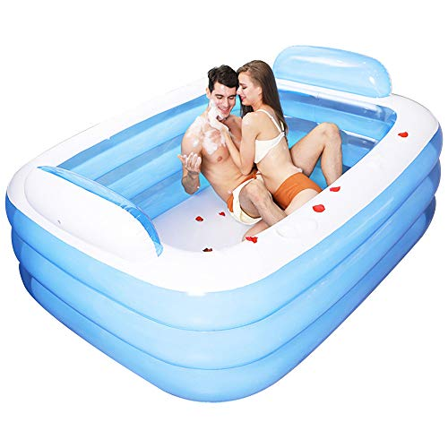 Lumemery Piscina Inflable Piscina Rectangular para niños para baño Infantil Centro de Fiestas acuáticas de Verano con Respaldo y portavasos