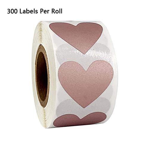 JOYKK 300 stks/rol Hart Stickers Stempel Enveloppen Kaarten Pakket Scrapbooking briefpapier