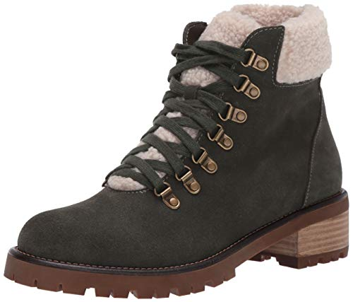 Blondo Melissa Waterproof Lace-Up Boot Green Suede 7.5 M