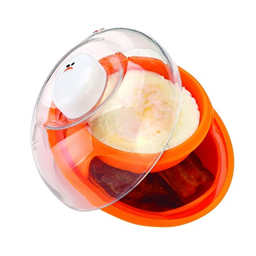 Joie Microwave Bacon and Egg Cooker for Breakfast Sandwiches or Breakfast for One