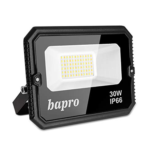30W LED Foco Exterior, 3000LM Regulable Proyector LED, Impermeable IP66 Floodlight Blanco frío, Blanco cálido, Blanco normal Luces Seguridad 3000-6000K Luz de Iluminación para Patio, Camino, Jardín