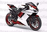 LJBusRoll White w/Red Injection Fairing Kit ABS Plastic for 2007-2008 Kawasaki Ninja ZX-6R ZX6R Motorcycle Complete Bodywork Fairing 07 08