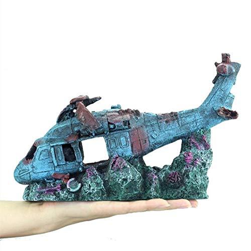 ACEACE Fisch-Behälter-Aquarium-Zubehör Schmuck Harz Flugzeug Wreckage Aquarium Verschönerungs Aquarium Dekoration Crafts Pet Supplies (Color : Ornaments)