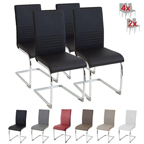 Albatros silla cantilever BURANO Set de 4 sillas Negro, SGS