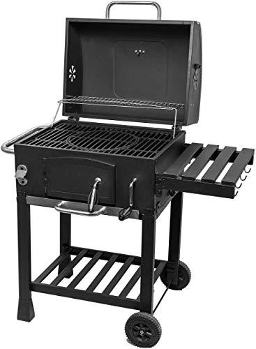 Activa - Barbecue rettangolare a carbonella, in acciaio inox, di grandi dimensioni