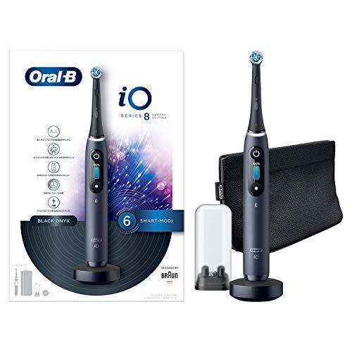 Oral-B iO 8 Cepillo eléctrico recargable con tecnología de Braun en edición especial,1 mango con diseño de gama y tecnología magnética,pantalla en color,1 cabezal de recambio,1 funda de viaje Premium